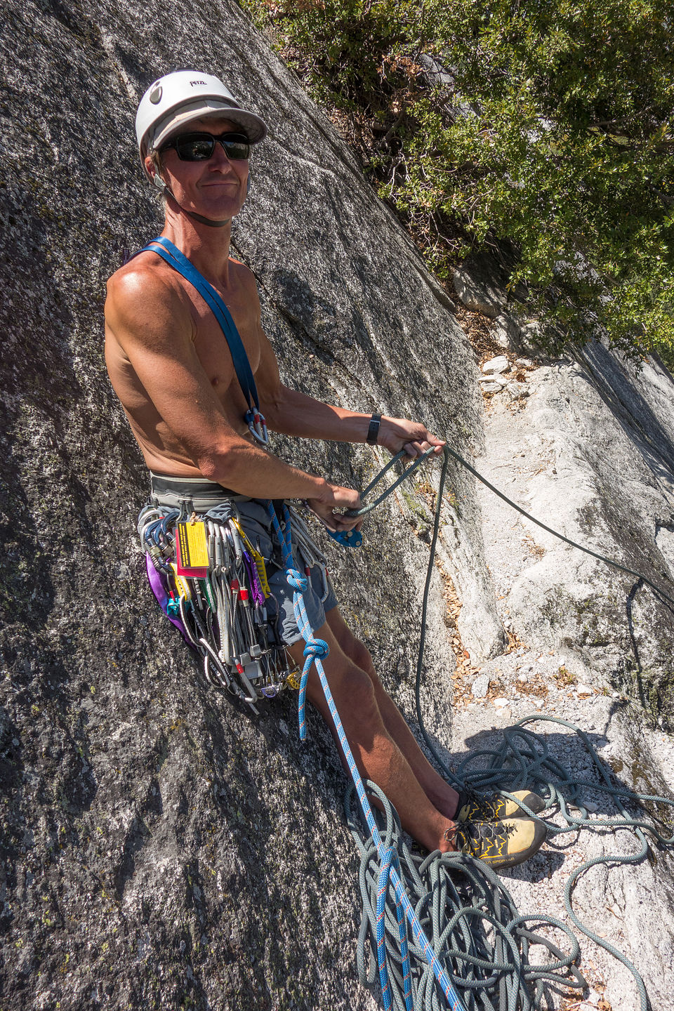 "Herb Belaying at First Pitch of ""Harry Daley"""