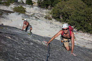 """Andrew and Herb Simul Climbing """"Harry Daley"""""""