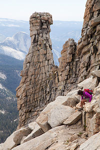 """Lolo being """"Extreme"""" on Mount Hoffman"""