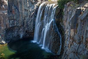 Rainbowless Falls at Devils Postpile National Monument