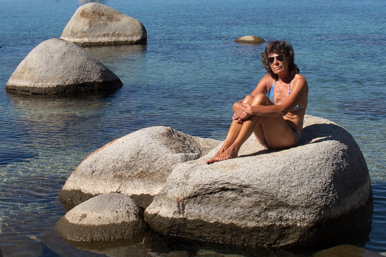Lolo on Rock in Secret Cove
