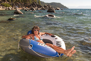 Lolo Tubing in Secret Cove