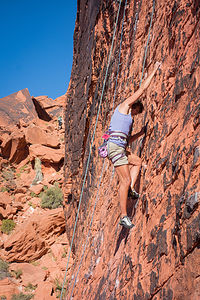 Lolo Climbing at Red Rock - TJG