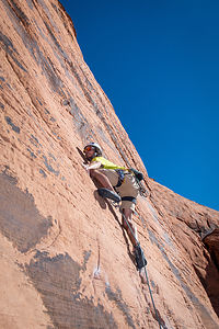 Andrew Climbing at Red Rock