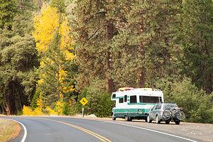 Lazy Daze and Subaru Ready to Leave Yosemite
