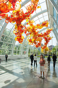 Lolo in Chihuly Glasshouse