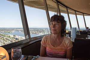 Lolo Dining in the Space Needle