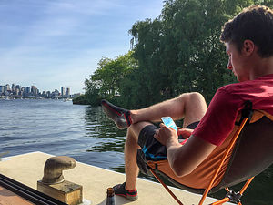 Tom on Houseboat Deck
