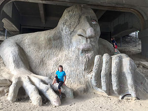 Lolo with The Fremont Troll