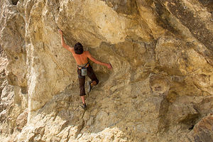 Andrew Climbing at Mount Saint Helena