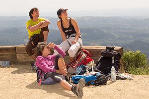 Watching Mount Saint Helena Climbers