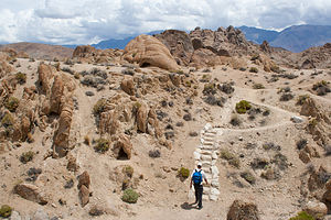 Herb Hiking the Alabama Hills