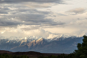 Eastern Sierras from Campground