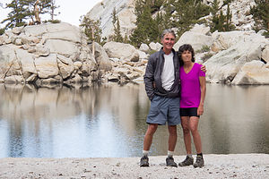 Herb and Lolo at Lone Pine Lake