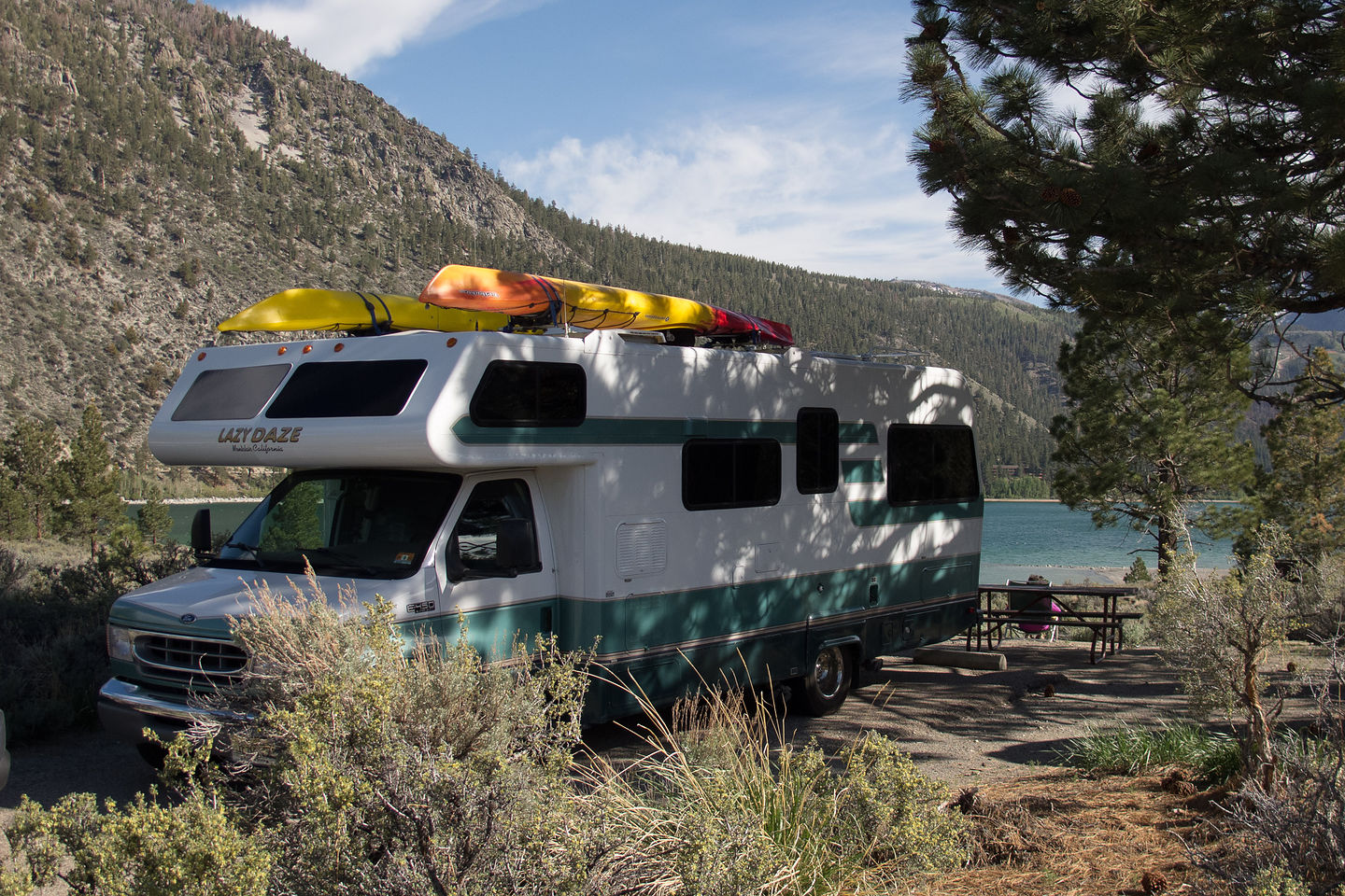 june lake beach campground