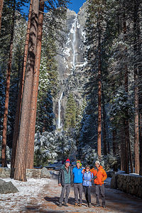 Family with Yosemite Falls