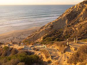 Climb up from Black's Beach