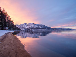 Alpenglow over Lake Tahoe