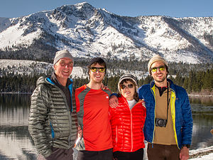 Happy Family after XC skiing to Fallen Leaf Lake