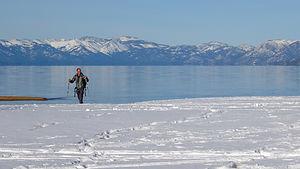 Herb XC skiing on Baldwin Beach