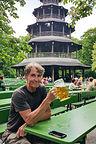 Herb enjoying the Chinesischer Turm beer garden
