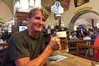 Herb enjoying another beer at the famous Hofbrauhaus