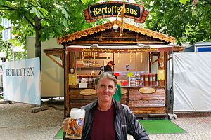 Herb enjoying German Father's Day in the Orleansplatz