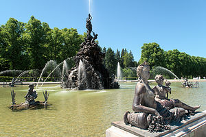Fountains at Schloss Herrenchiemsee