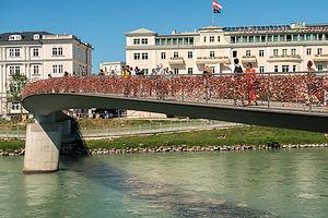 Lover's Locks on Makartsteg Bridge