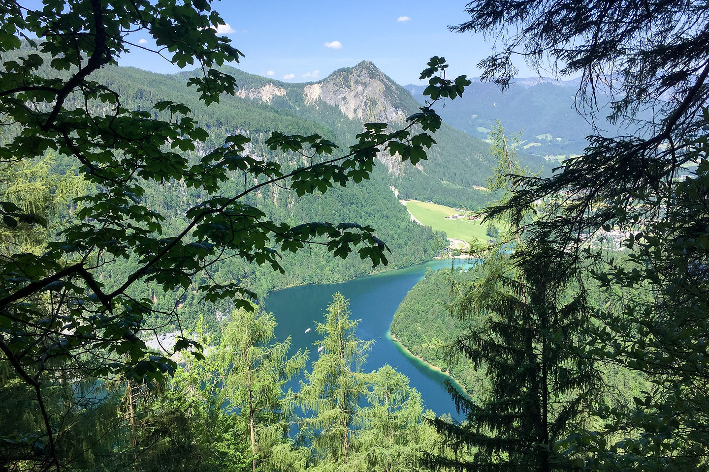 Glimpses of the Konigsee at the start of our Jenner hike