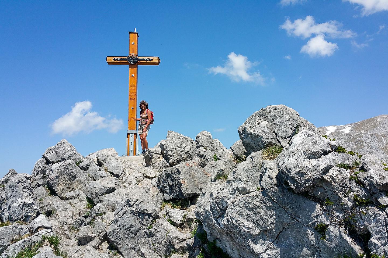 Cross atop Jenner summit