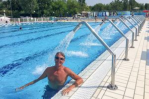 Herb enjoying Camping Marina di Venezia Aquamarina Park