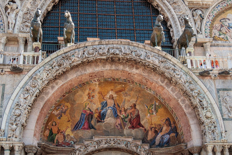 Tympanum over St. Mark's Basilica entrance