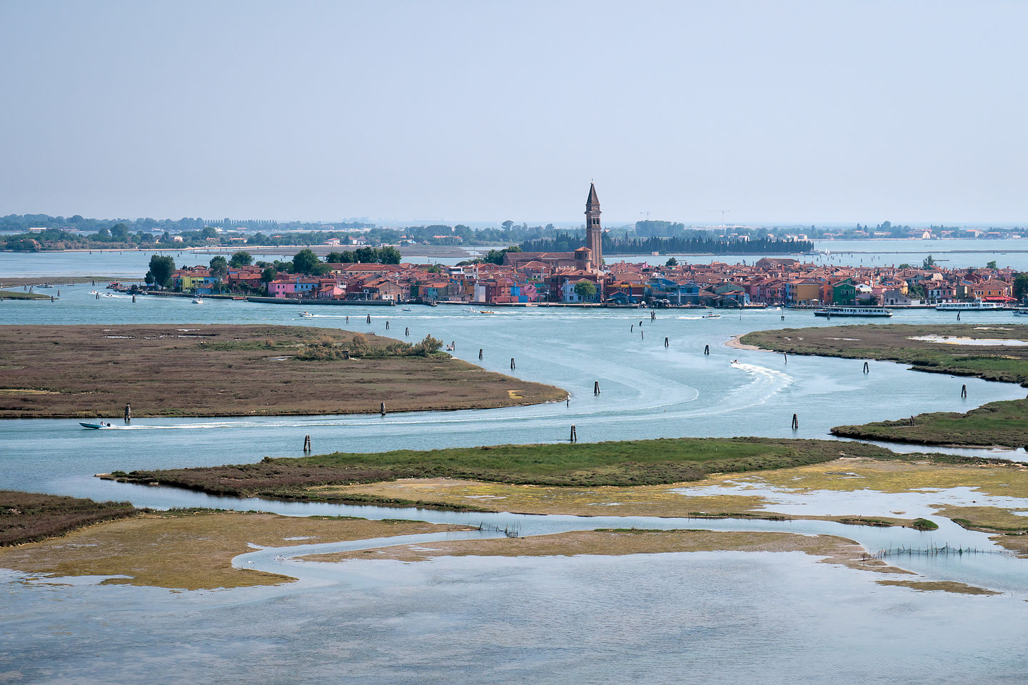 View of Burano from Santa Maria Assunta Campanile