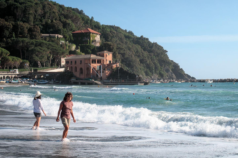 Levanto Beach on the Mediterranean Sea