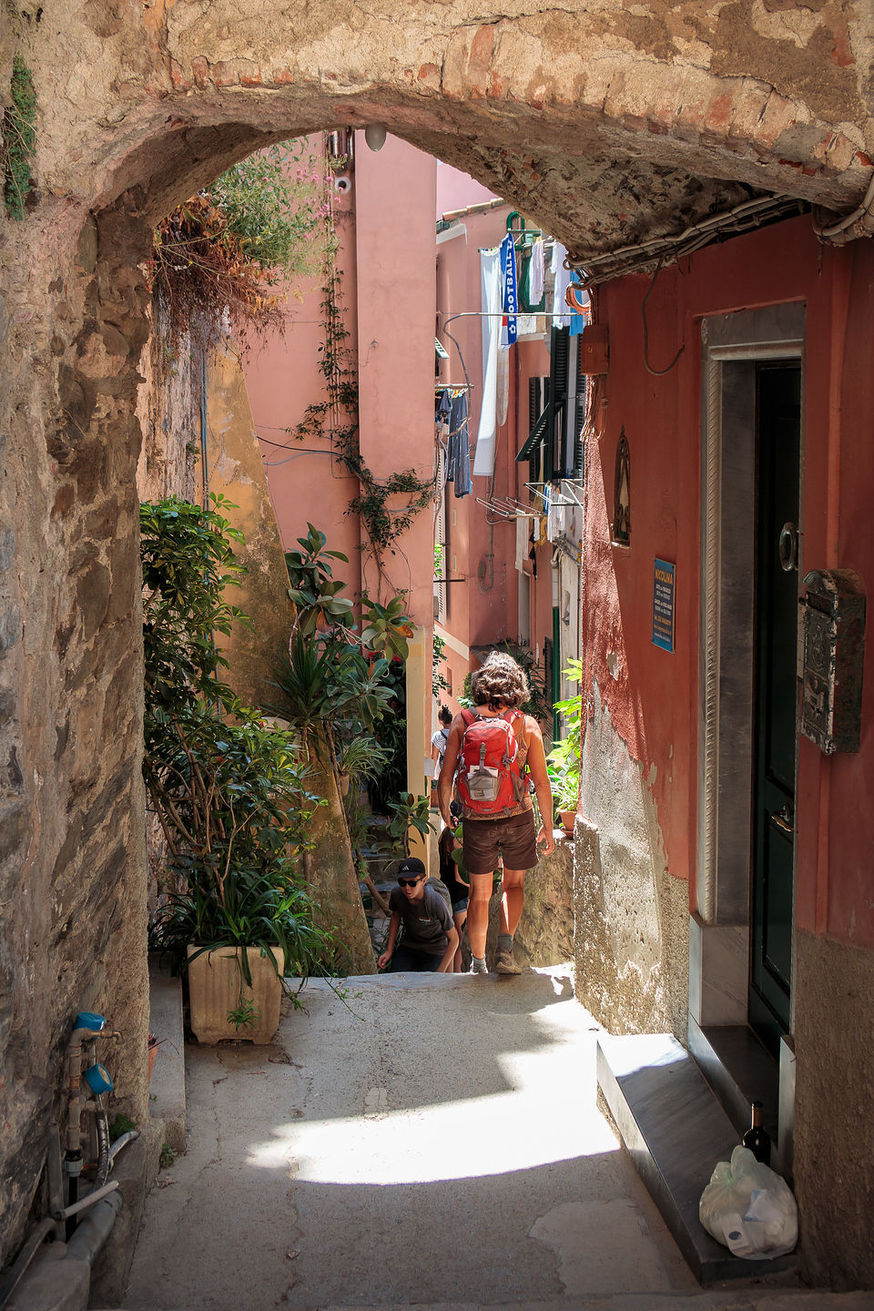 Exploring the back alleys of Vernazza