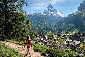 Zermatt at the foot of the Matterhorn