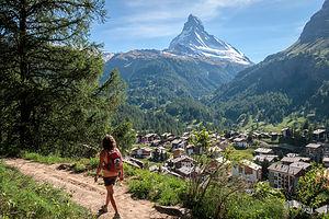 Zermatt at the foot of the Matterhorn