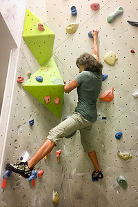 Lolo climbing at the Grindelwald Sportzentrum