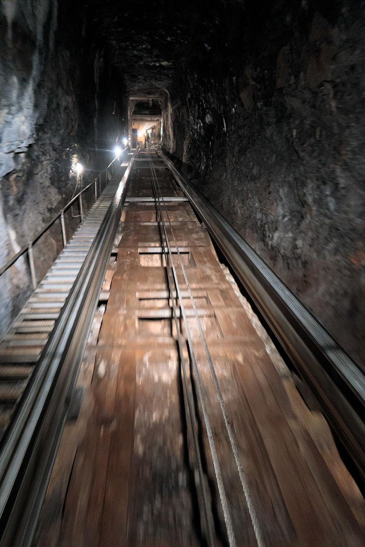 Trummelbach Falls elevator inside the mountain