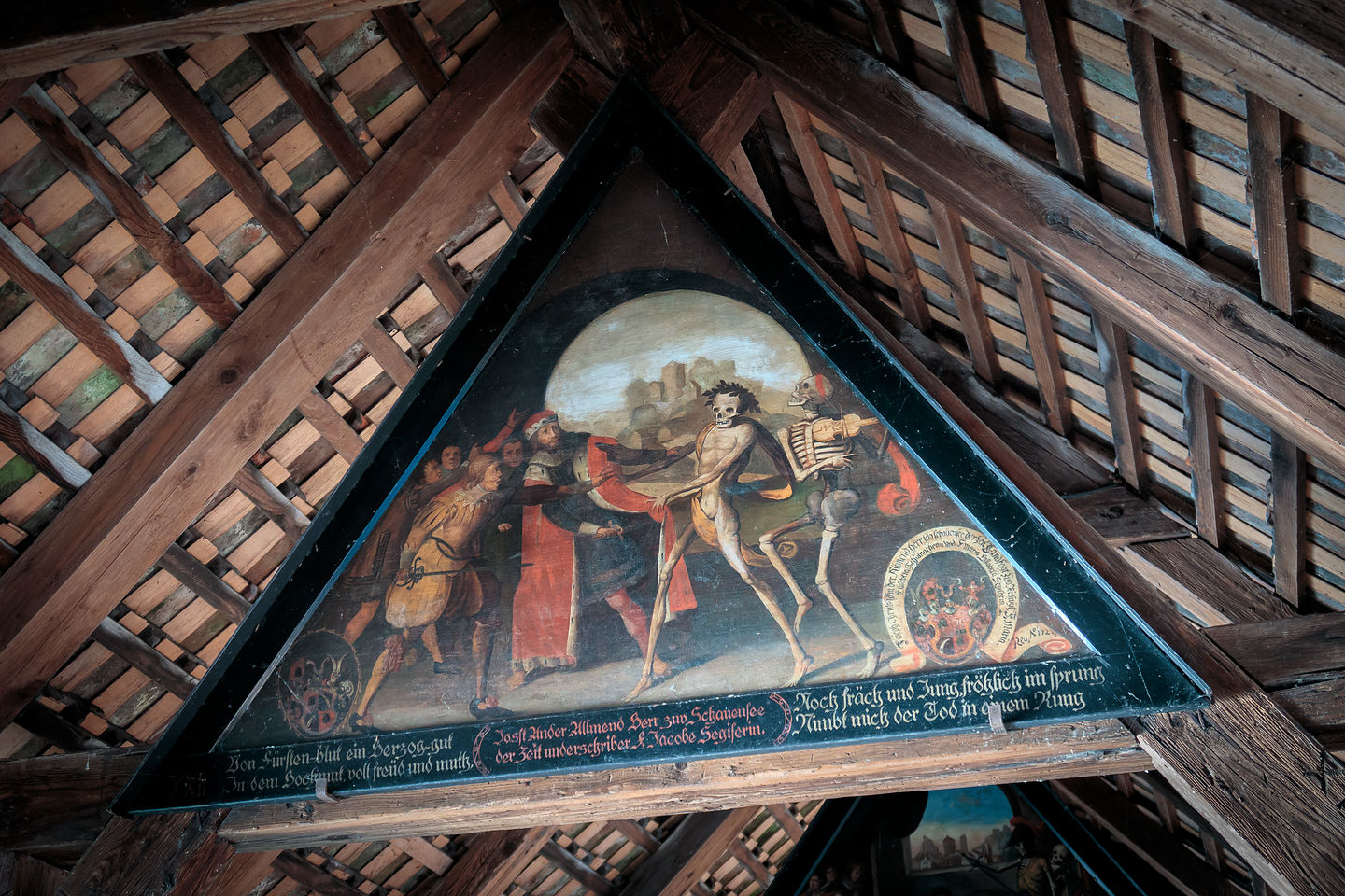 Dance of Death in the rafters of the Spruerbrucke