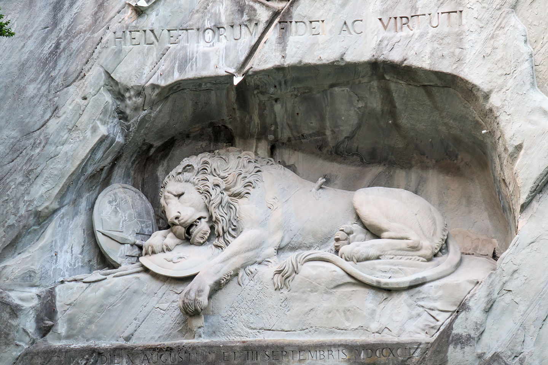 Lucerne's iconic Lion Monument