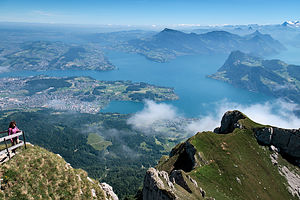 View from atop the Tomlishorn of Mt.  Pilatus