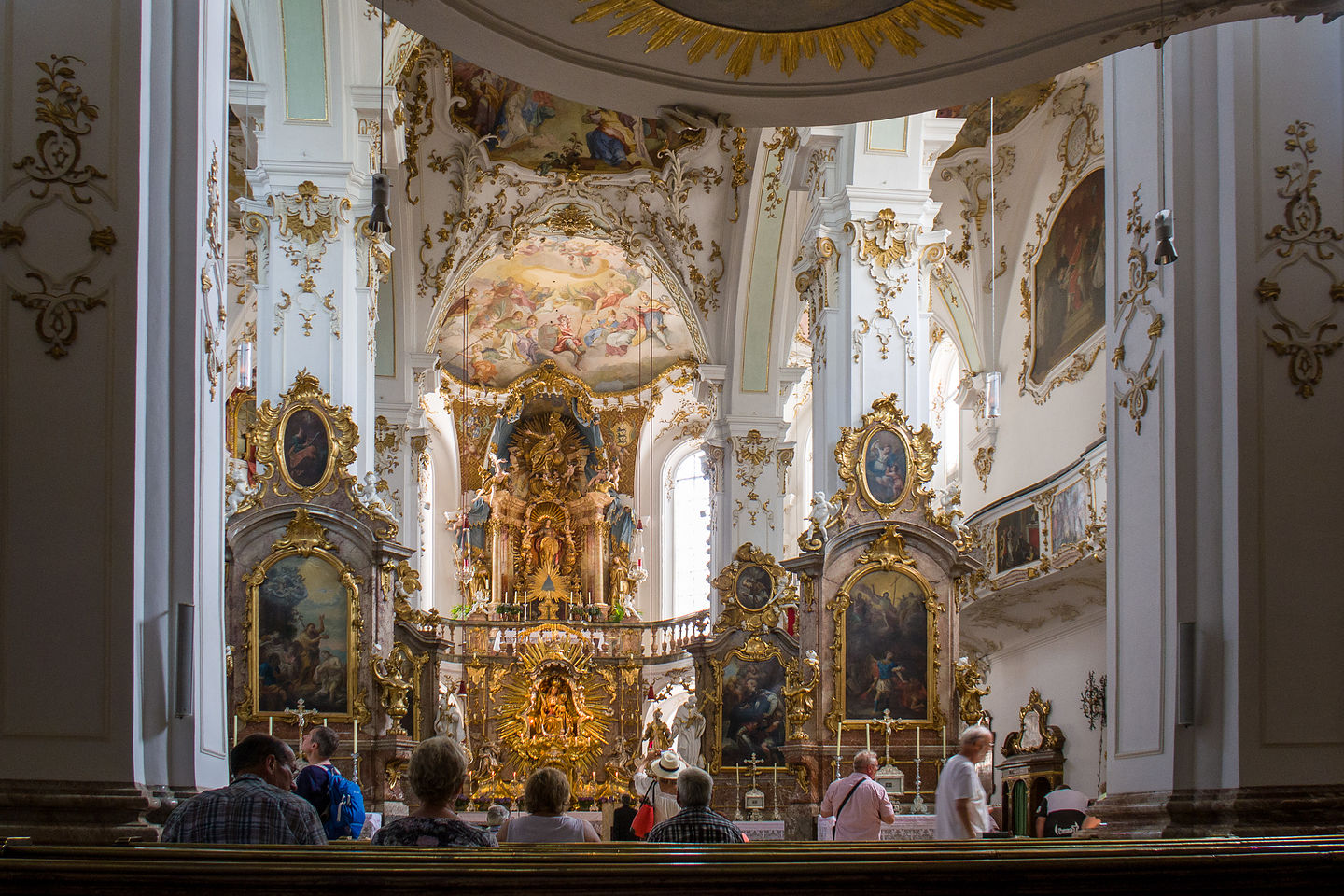 Interior of the Andechs Monastery Pilgrimage Church