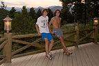 Boys post run on Chief Hosa lodge porch