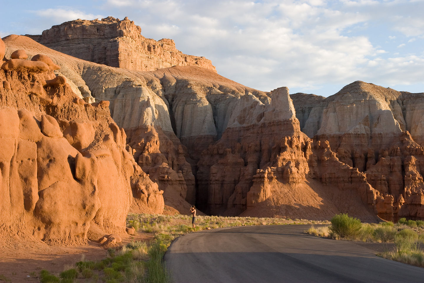 Goblin Valley Campground at sunrise