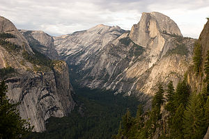 Half Dome and Royal Arches from 4-mile trail