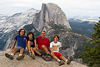 Gaidus family after hike up to Glacier Point