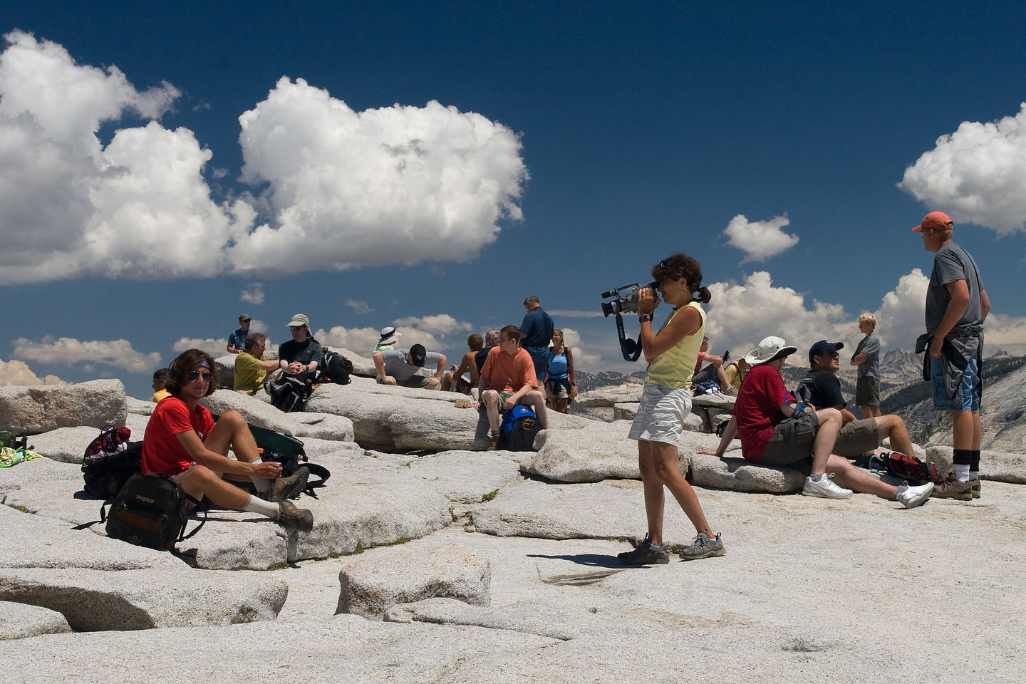 Lolo videotaping on Half Dome summit