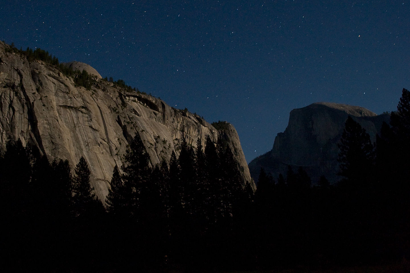 Half Dome and Royal Arches by starlight